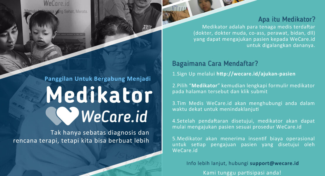 WeCare.id is Looking For Medikator to Join